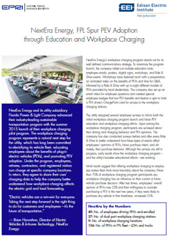 NextEra Energy, FPL spur PEV adoption through education and workplace charging.